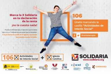 Decide a dónde van tus impuestos: marca X Solidaria