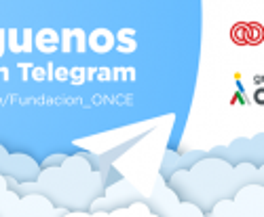 Fundación ONCE abre canal informativo en Telegram